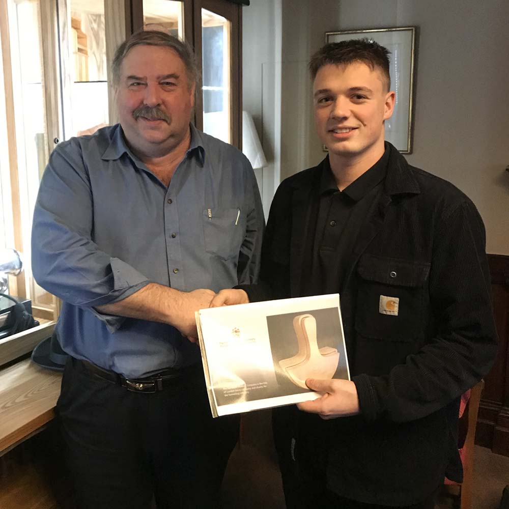 Gary Smith and Joseph Boobier, supporting Joseph with technical CNC design
